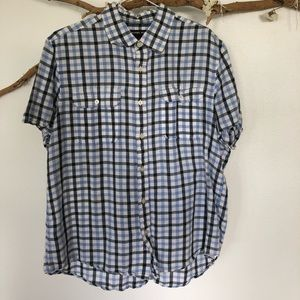 Michael Kors short sleeve Button Down Oxford